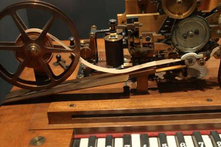 Museum of Science, Milan - 2019: Keyboard telegraph Hughes type, 19th century 報道画像