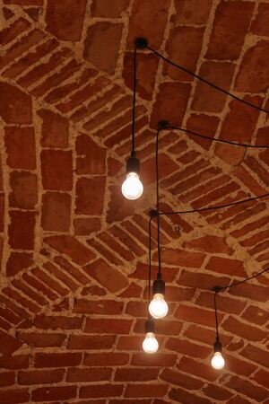 italian terracotta barrel voulted ceiling Stock Photo
