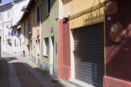 Castelnuovo Nigra, Italian mountain village landscape.