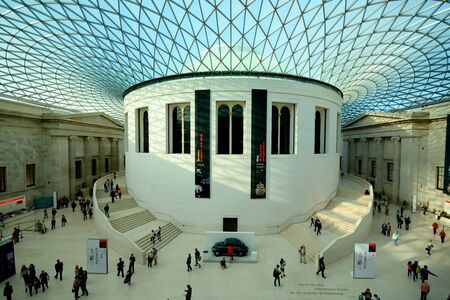 millions: London, UK- October 10, 2014:Inerior of British Museum which collection of 8 millions items is on of largest in the World.
