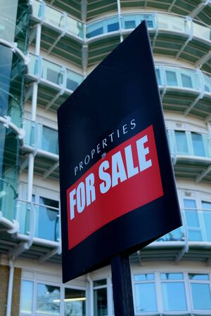 property for sale: Property for sale sign in front of the building