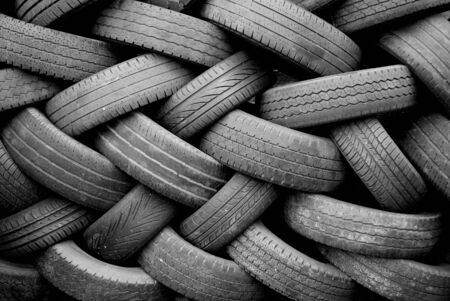 used: Detail of used tyres