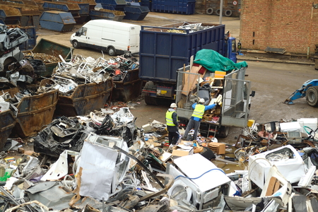 metal recycling: Large metal recycling site in London, England