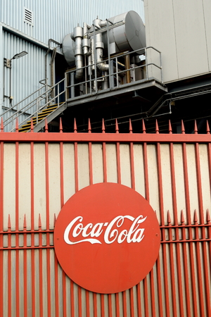 enfield: Gate at Coca-Cola bottling plant in Enfield, London is one of the largest bottling plants in the UK and is capable of filling a staggering six million bottles a day.
