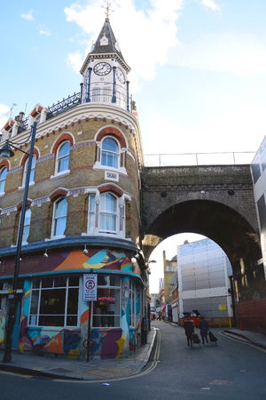 brixton: London, United Kingdom- January 28, 2016: Architecture from Victorian period in Brixton which is unique colorful, multicultural area in South London famous by market, music, nightlife...