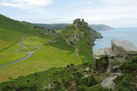 The Valley of the Rocks on the northern edge of Exmoor, Devon