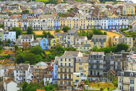 Panoramic view of seaside town of Ilfracombe on the North Devon coast, England
