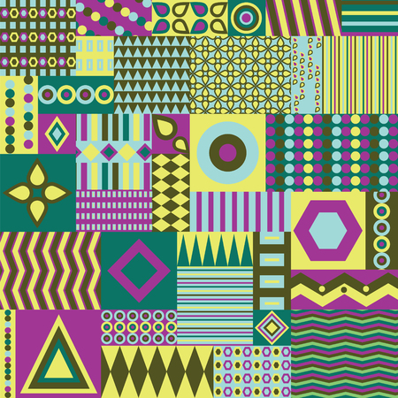 Ethno seamless pattern. Ethnic boho repeatable ornament. Tribal art background. Fabric design, wallpaper, wrapping Illustration