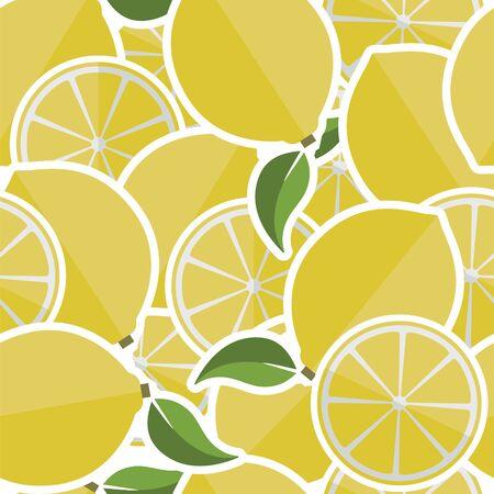 Background from lemons. Vector illustration.