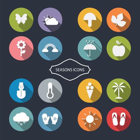 season: Season icons.Vector illustration.