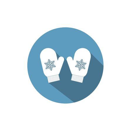 mitten icon. Vector illustration of a mitten. Mitten icon flat design