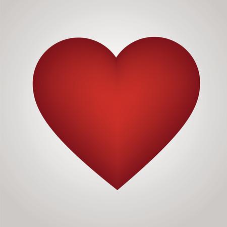 Rood hart - illustratie