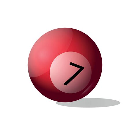 bola de billar: Pool Ball - Illustration Vectores
