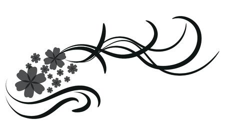 Floral design element- Illustration