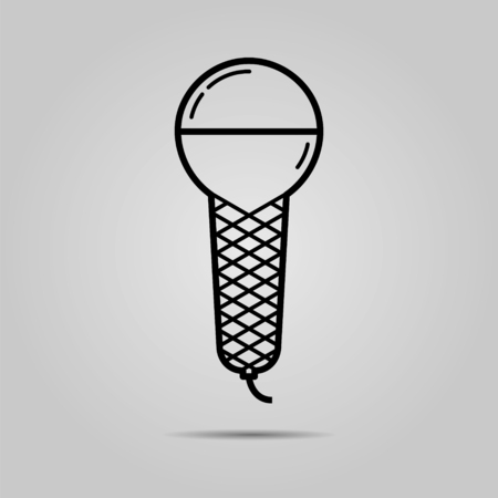 musik: Microphone icon. Vector illustration. Flat design. Illustration