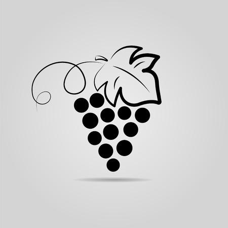 Racimo de uvas. Fondo del vino. Diseño de logotipo para la empresa. Foto de archivo - 74724497