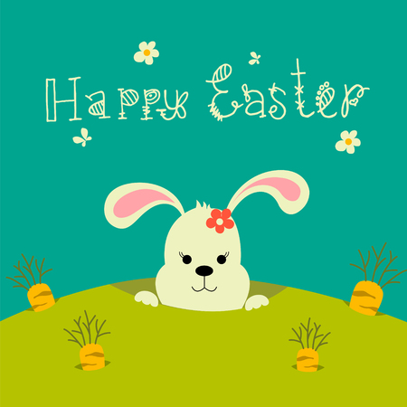 Colorful Easter greeting card Illustration
