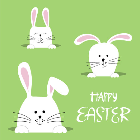 Easter bunnies for Easter greeting card