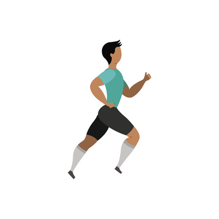Running man. Sports activities. Vector illustration. Vettoriali