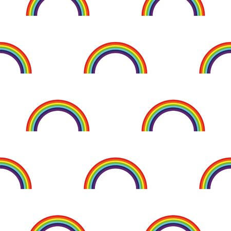 Vector seamless pattern with rainbows. Lgbt. Happy pride. Rainbow abstract background. Vettoriali