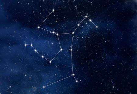 Hercules constellation in night starry sky Banque d'images
