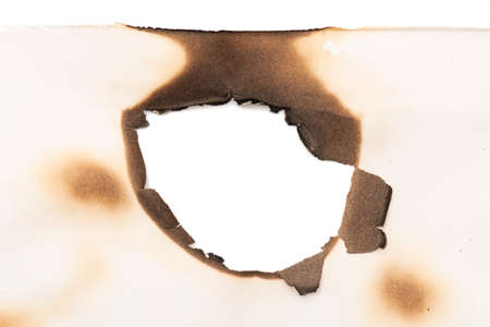 Burned white paper, background, texture