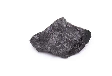 Black coal isolated on white background
