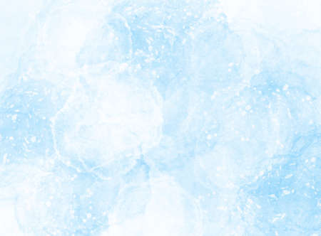Winter snowy background, blue frozen surface with snow, vector illustration Vettoriali