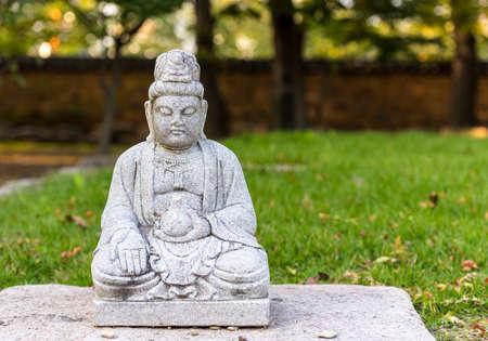 Stone Buddha statue at a temple near Gyeongju, South Korea. 写真素材