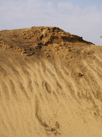 Sand Hill in Saudi Arabian Deserts Stock Photo