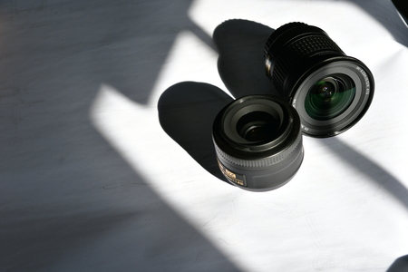 wide angle lens and telephoto lens