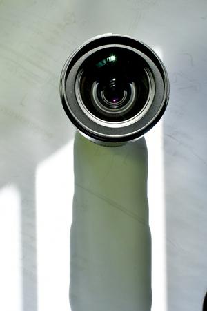Camera Lens top glass view