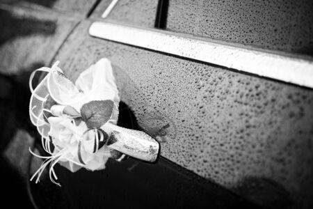 Blumen, Hochzeit, Auto, Blumenstrauß, Dekoration, Weiß, Rosen, Feier ...