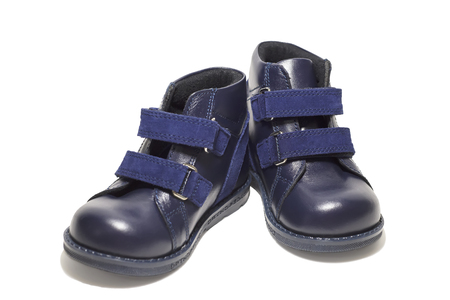 6 12: boots of the baby isolated Stock Photo