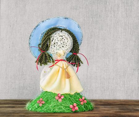 spring handmade doll Stock Photo
