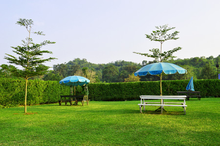 relax garden: Relax garden Stock Photo