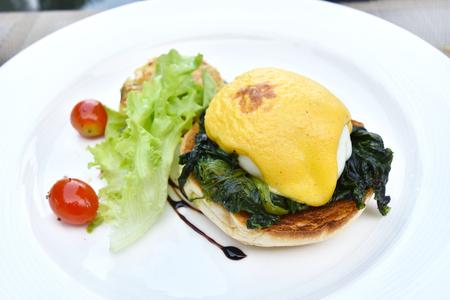 benedict: Delicious Eggs Benedict with Spinach
