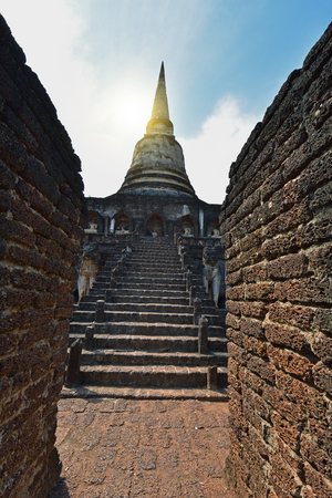 The Kingdom of Sukhothai Si Satchanalai Historical Park in Sukhothai Thailand.