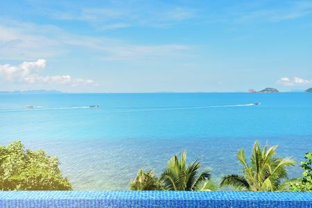 Enjoying Beautiful Sea View at luxury hotel