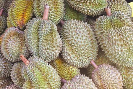 Group of durian from farms in the market