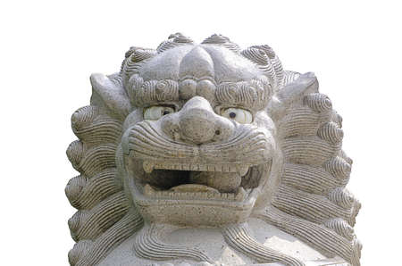 Lion statue in china temple