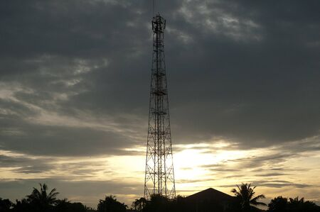 antenna structure at dawn photo