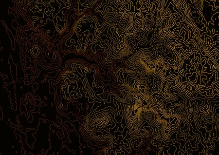 Contour line map brown tone topography