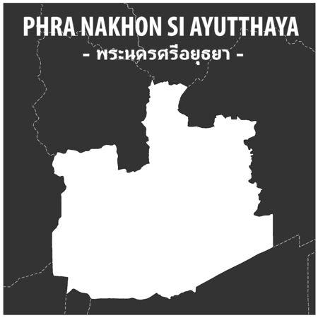 PhraNakhonSi Ayutthaya map Province of Thailand