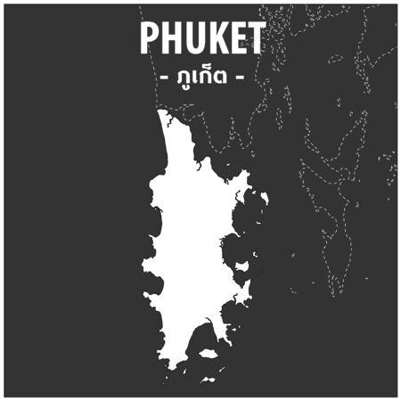 Phuket map Province of Thailand
