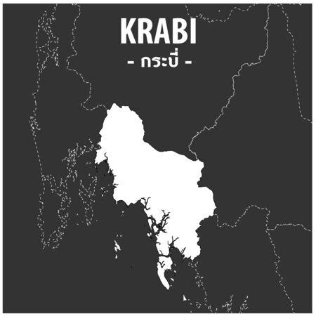 Krabi map Province of Thailand