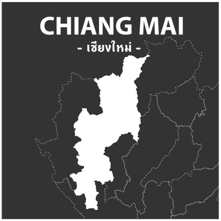 Chiang mai map Province of Thailand