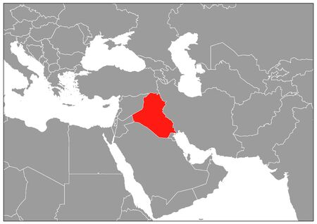 Iraq map in gray base Stock Illustratie