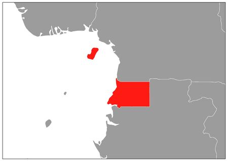 Equatorial Guinea map on gray base