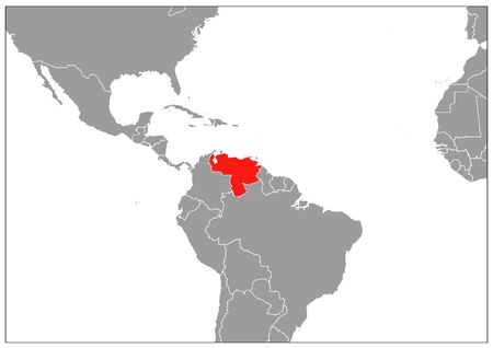 Venezuela map on gray base